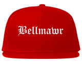 Bellmawr New Jersey NJ Old English Mens Snapback Hat Red