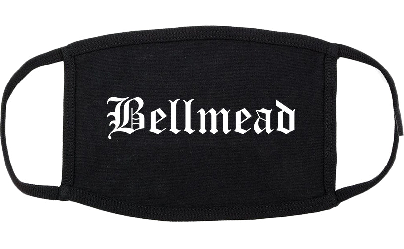 Bellmead Texas TX Old English Cotton Face Mask Black