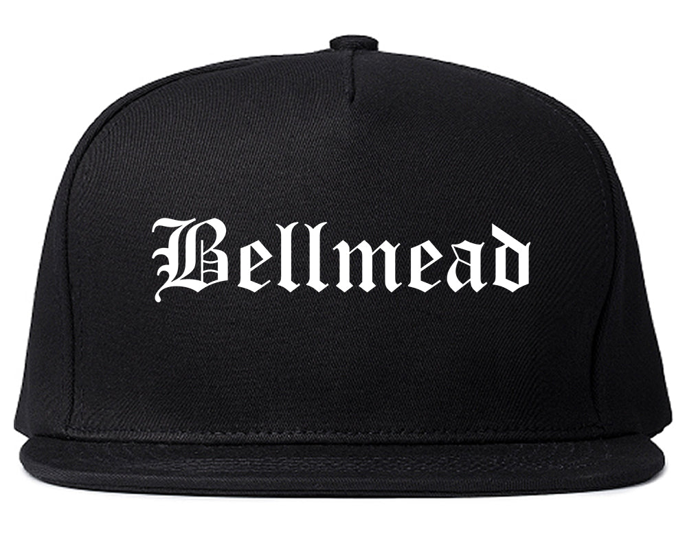 Bellmead Texas TX Old English Mens Snapback Hat Black