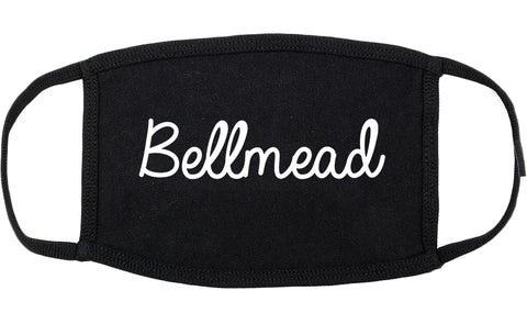 Bellmead Texas TX Script Cotton Face Mask Black