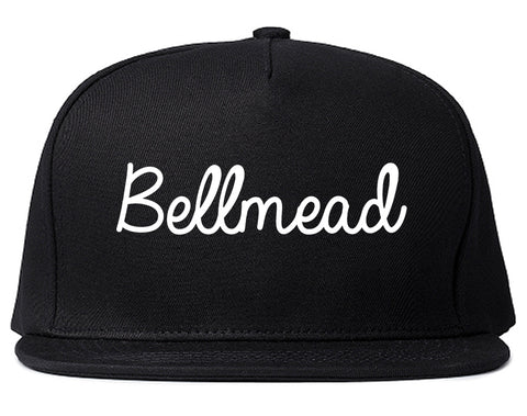 Bellmead Texas TX Script Mens Snapback Hat Black