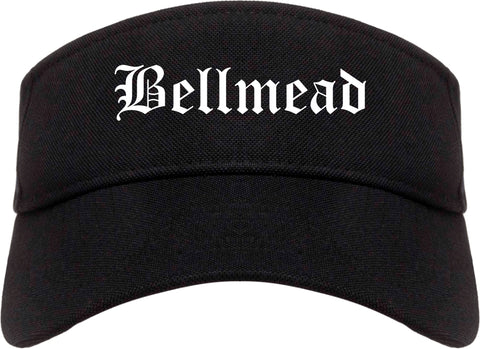 Bellmead Texas TX Old English Mens Visor Cap Hat Black