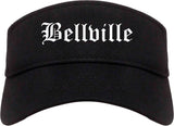 Bellville Texas TX Old English Mens Visor Cap Hat Black