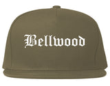 Bellwood Illinois IL Old English Mens Snapback Hat Grey