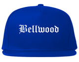 Bellwood Illinois IL Old English Mens Snapback Hat Royal Blue