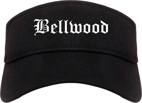 Bellwood Illinois IL Old English Mens Visor Cap Hat Black
