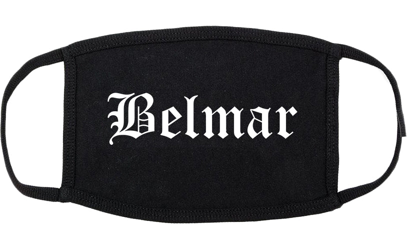 Belmar New Jersey NJ Old English Cotton Face Mask Black