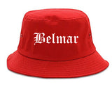 Belmar New Jersey NJ Old English Mens Bucket Hat Red