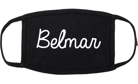 Belmar New Jersey NJ Script Cotton Face Mask Black