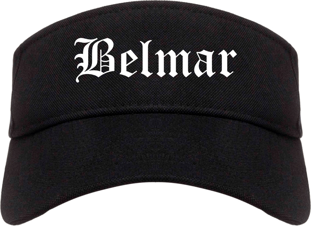 Belmar New Jersey NJ Old English Mens Visor Cap Hat Black