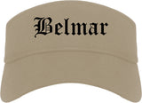 Belmar New Jersey NJ Old English Mens Visor Cap Hat Khaki