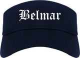Belmar New Jersey NJ Old English Mens Visor Cap Hat Navy Blue