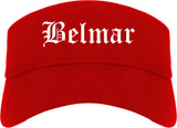Belmar New Jersey NJ Old English Mens Visor Cap Hat Red