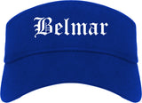 Belmar New Jersey NJ Old English Mens Visor Cap Hat Royal Blue