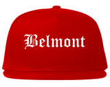 Belmont California CA Old English Mens Snapback Hat Red