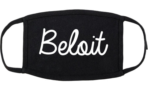 Beloit Wisconsin WI Script Cotton Face Mask Black
