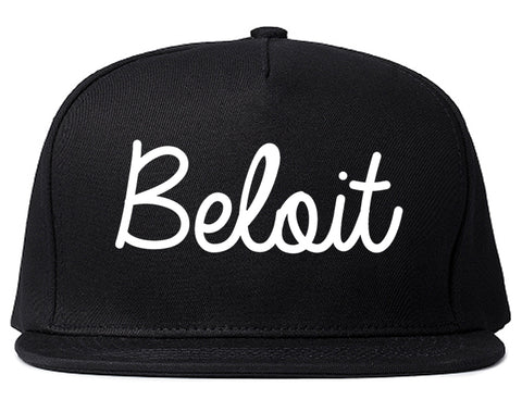 Beloit Wisconsin WI Script Mens Snapback Hat Black