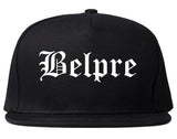 Belpre Ohio OH Old English Mens Snapback Hat Black