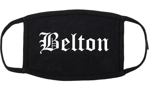 Belton South Carolina SC Old English Cotton Face Mask Black