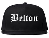 Belton Texas TX Old English Mens Snapback Hat Black