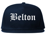 Belton Texas TX Old English Mens Snapback Hat Navy Blue