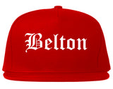 Belton Texas TX Old English Mens Snapback Hat Red