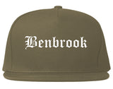 Benbrook Texas TX Old English Mens Snapback Hat Grey