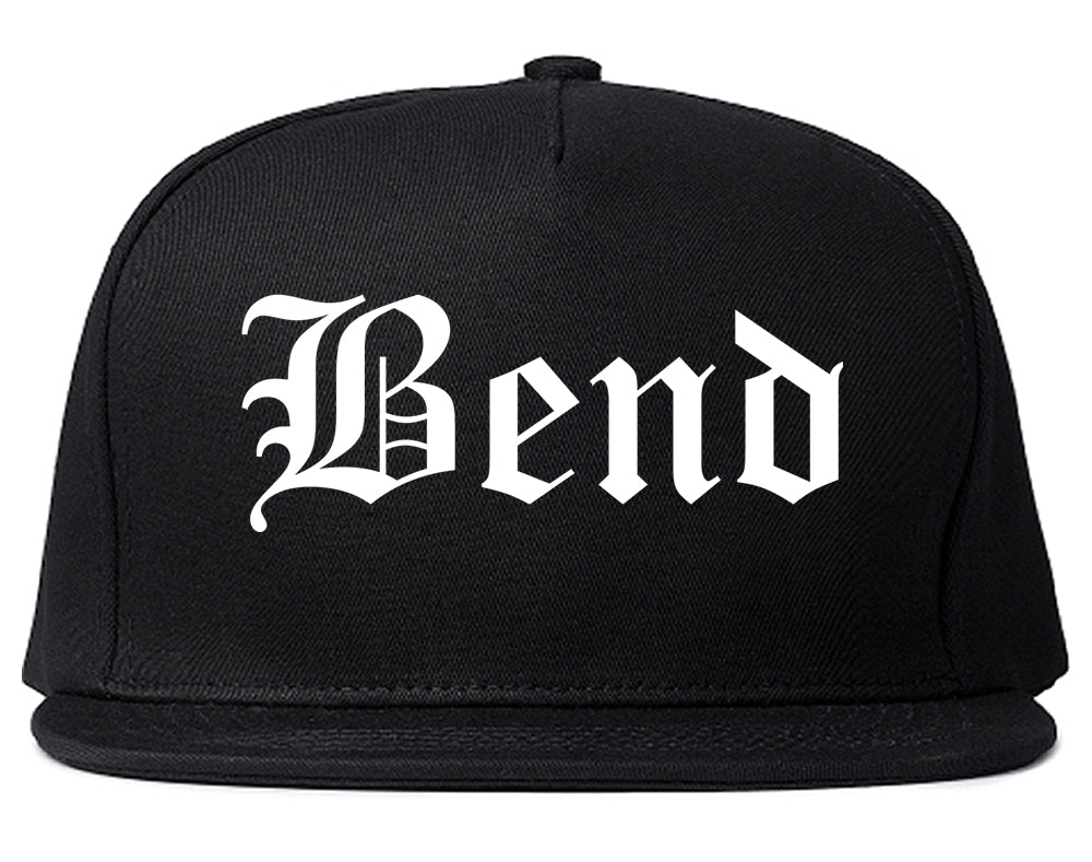 Bend Oregon OR Old English Mens Snapback Hat Black