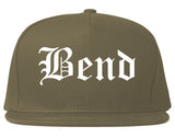 Bend Oregon OR Old English Mens Snapback Hat Grey