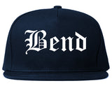 Bend Oregon OR Old English Mens Snapback Hat Navy Blue