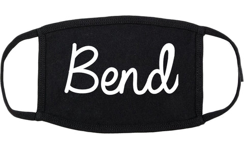 Bend Oregon OR Script Cotton Face Mask Black