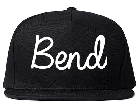 Bend Oregon OR Script Mens Snapback Hat Black