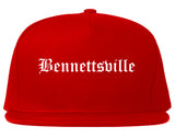 Bennettsville South Carolina SC Old English Mens Snapback Hat Red