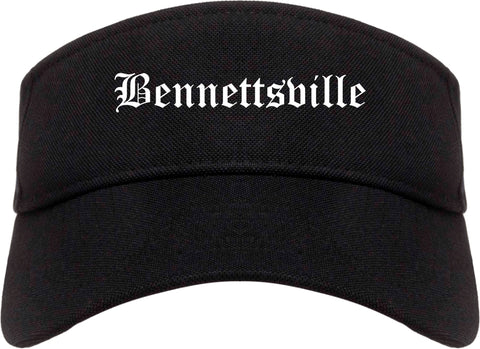 Bennettsville South Carolina SC Old English Mens Visor Cap Hat Black