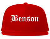 Benson Arizona AZ Old English Mens Snapback Hat Red