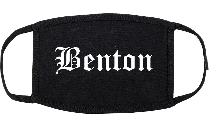 Benton Arkansas AR Old English Cotton Face Mask Black