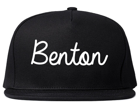 Benton Illinois IL Script Mens Snapback Hat Black