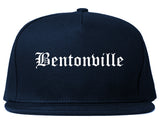 Bentonville Arkansas AR Old English Mens Snapback Hat Navy Blue