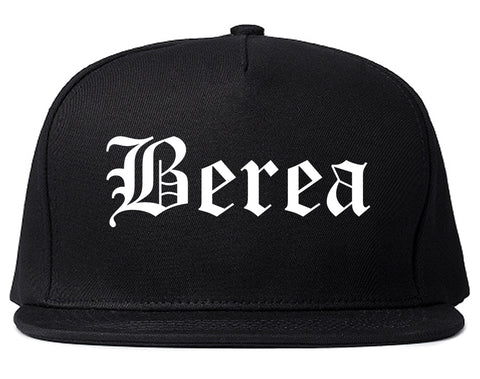 Berea Kentucky KY Old English Mens Snapback Hat Black