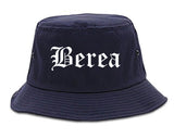 Berea Kentucky KY Old English Mens Bucket Hat Navy Blue