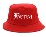 Berea Kentucky KY Old English Mens Bucket Hat Red