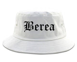 Berea Kentucky KY Old English Mens Bucket Hat White