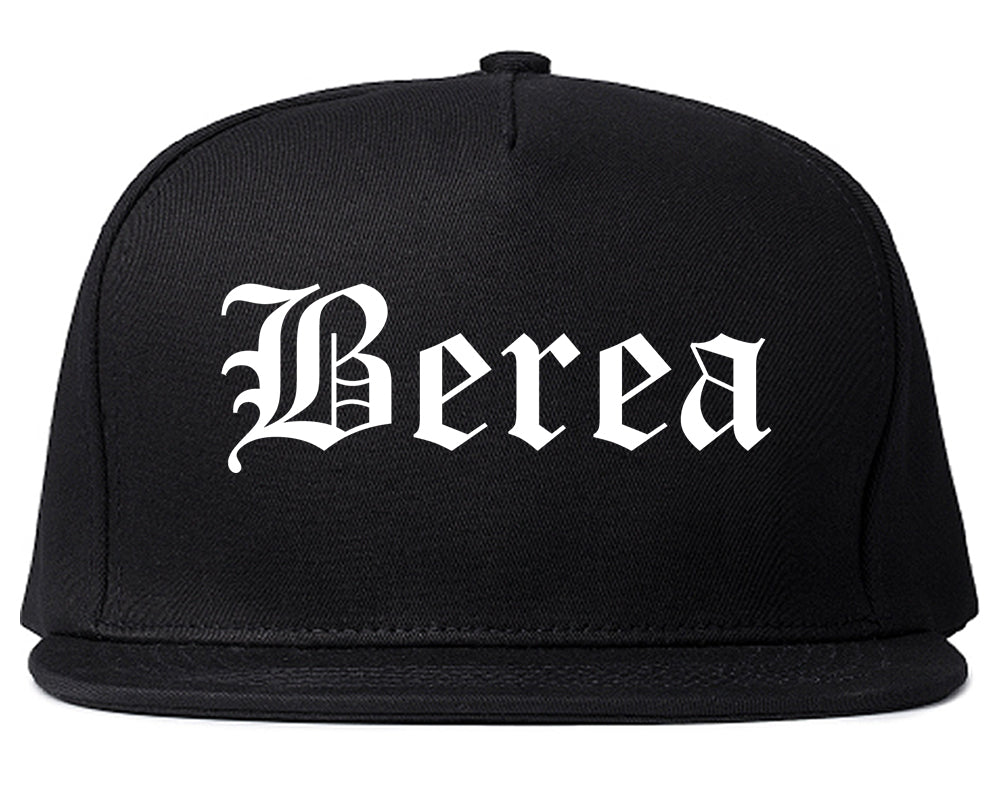 Berea Ohio OH Old English Mens Snapback Hat Black