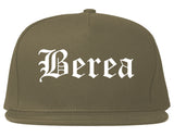 Berea Ohio OH Old English Mens Snapback Hat Grey