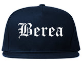 Berea Ohio OH Old English Mens Snapback Hat Navy Blue