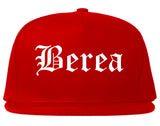 Berea Ohio OH Old English Mens Snapback Hat Red