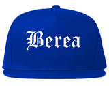Berea Ohio OH Old English Mens Snapback Hat Royal Blue