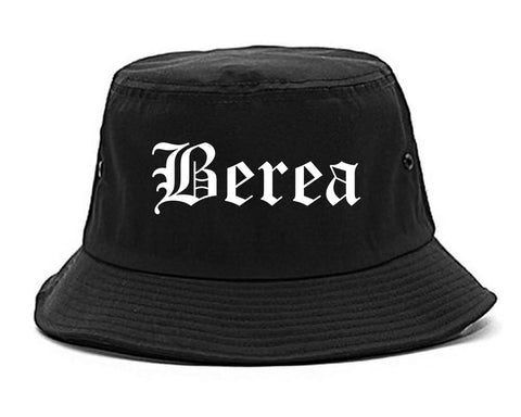 Berea Ohio OH Old English Mens Bucket Hat Black