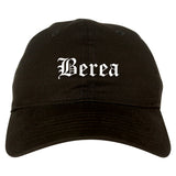 Berea Ohio OH Old English Mens Dad Hat Baseball Cap Black
