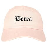 Berea Ohio OH Old English Mens Dad Hat Baseball Cap Pink